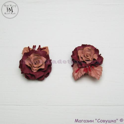 """Цветок из фоамирана """"роза бордо"""""""