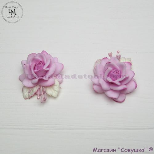 "Цветок из фоамирана ""роза розовая""."