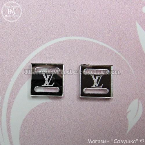 """Арт p-07 Пряжка для бантиков и лент  """"Louis Vuitton"""""""