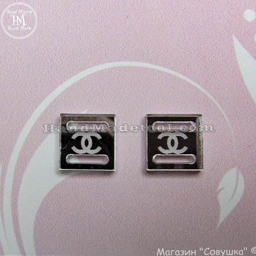 """Арт p-09 Пряжка для бантиков и лент  """"Chanel"""""""