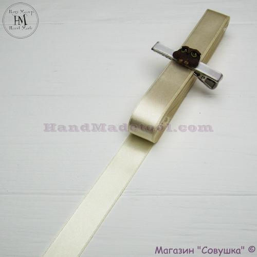 Double sides satin ribbon 2 cm width colour 04-lactic