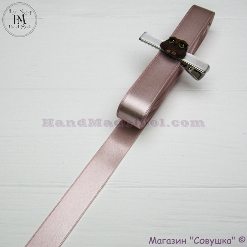 Double sides satin ribbon 2 cm width colour 17-powder