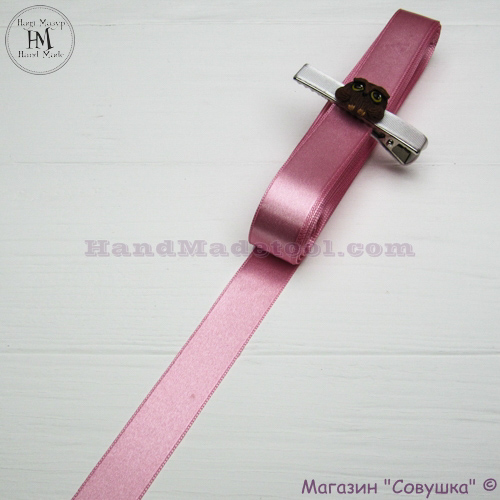 Double sides satin ribbon 2 cm width, colour 19-pink.