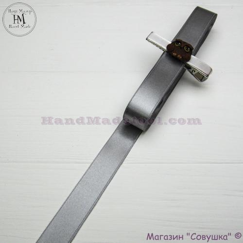 Double sides satin ribbon 2 cm width colour 41-gray