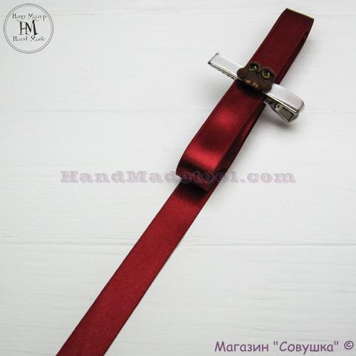 Double sides satin ribbon 2 cm width colour 53-marsala