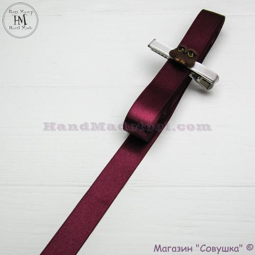 Double sides satin ribbon 2 cm width colour 56-bordeaux