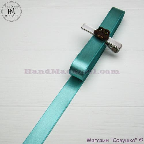 Double sides satin ribbon 2 cm width, colour 65-mint.
