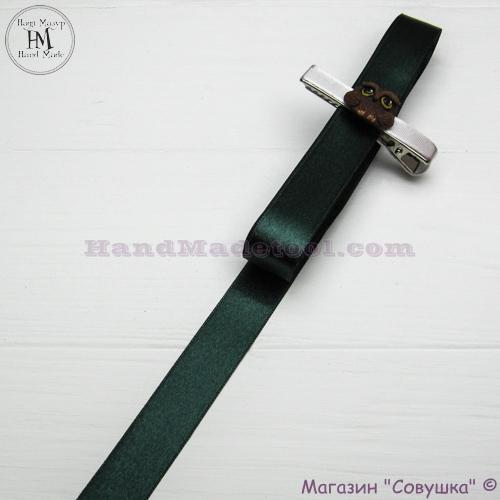 Double sides satin ribbon 2 cm width colour 77-dark emerald