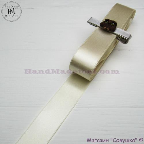 Double sides satin ribbon 3 cm width colour 04-lactic