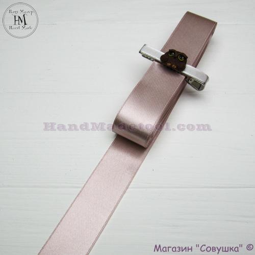 Double sides satin ribbon 3 cm width colour 17-powder