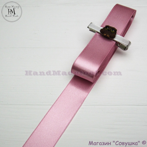 Double sides satin ribbon 3 cm width colour 19-pink