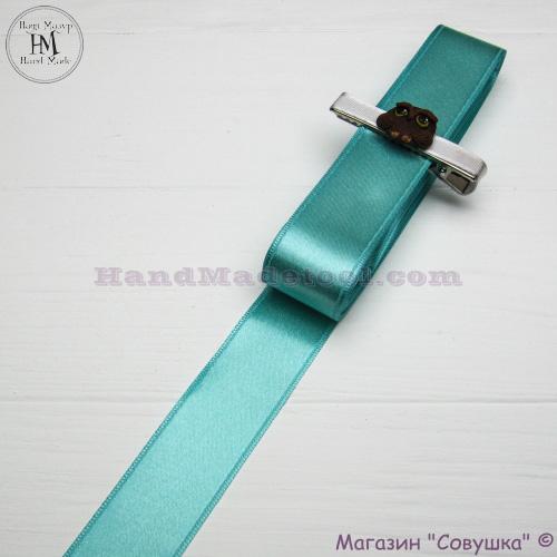 Double sides satin ribbon 3 cm width colour 65-mint