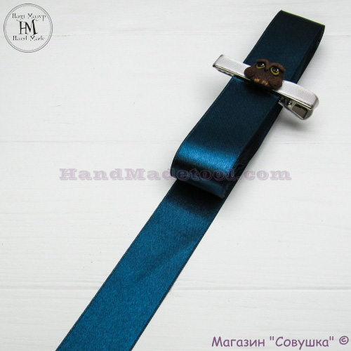 Double sides satin ribbon 3 cm width colour 79-moray eel