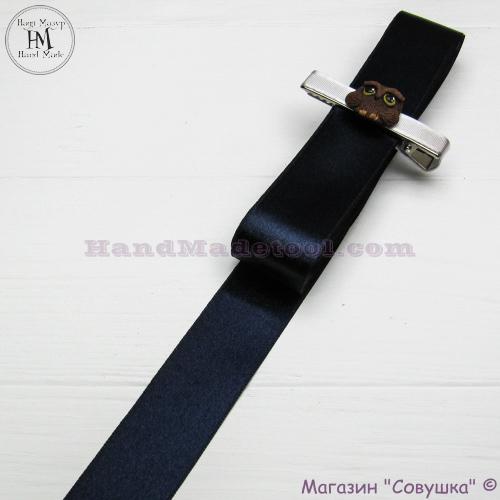 Double sides satin ribbon 3 cm width colour 98-navy blue