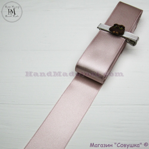 Double sides satin ribbon 4 cm width colour 17-powder