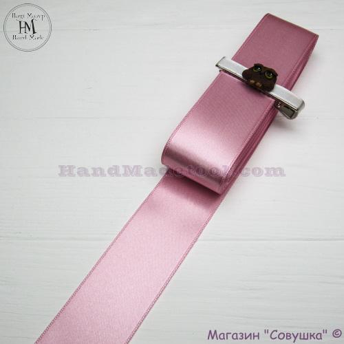Double sides satin ribbon 4 cm width colour 19-pink