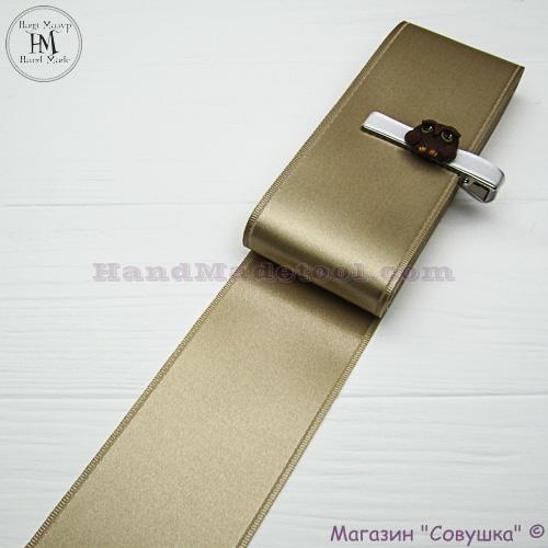 Double sides satin ribbon 6 cm width colour 07-sand