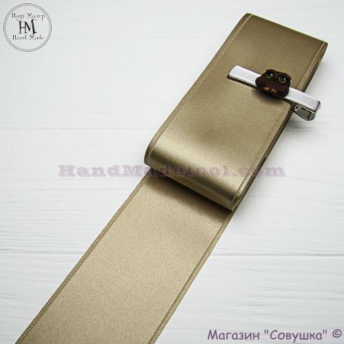 Double sides satin ribbon 6 cm width colour 08-light golden