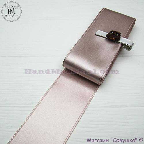 Double sides satin ribbon 6 cm width, colour 17-powder.