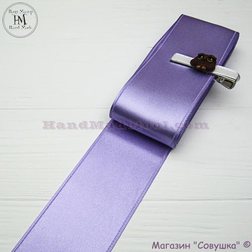 Double sides satin ribbon 6 cm width colour 33-violet