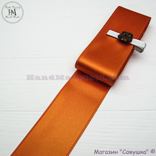 Double sides satin ribbon 6 cm width colour 47-orange