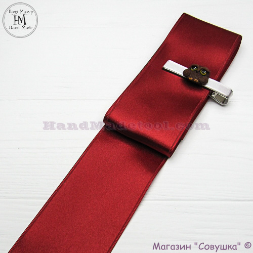 Double sides satin ribbon 6 cm width colour 53-marsala