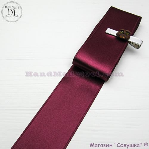 Double sides satin ribbon 6 cm width colour 56-bordeaux
