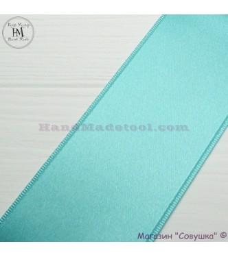 Double sides satin ribbon 6 cm width colour 65-mint