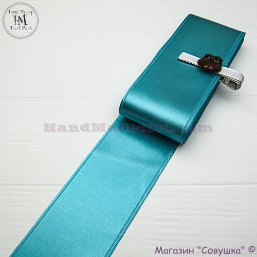 Double sides satin ribbon 6 cm width colour 66-dark mint