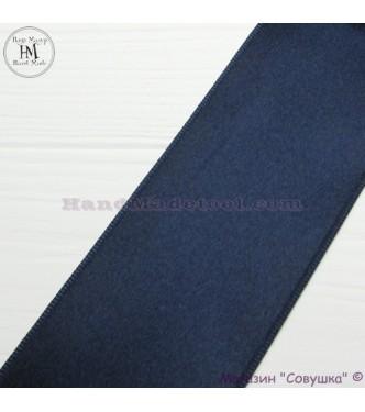 Double sides satin ribbon 6 cm width colour 98-navy blue