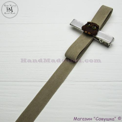Faux suede ribbon 1,5 cm width colour 02-antique