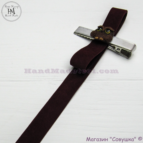 Faux suede ribbon 1,5 cm width colour 56-bordeaux