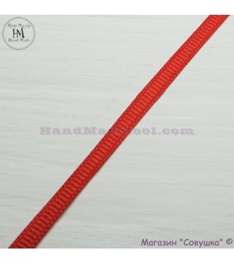 Reps ribbon 0,5-0,6 cm width colour 50-red