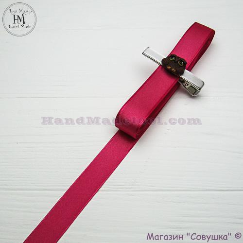 Reps ribbon 2 cm width colour 23-сrimson