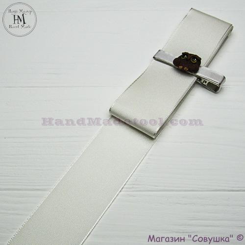 Reps ribbon 4 cm width, colour 02-antique.