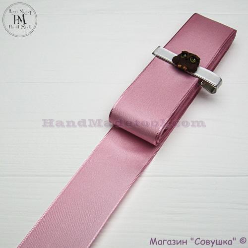 Reps ribbon 4 cm width, colour 19-pink.