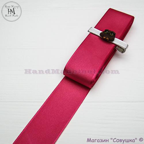 Reps ribbon 4 cm width, colour 23-сrimson.