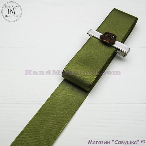 Reps ribbon 4 cm width, colour 73-green.