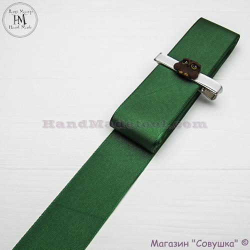Reps ribbon 4 cm width, colour 75-dark green.