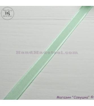 Silk ribbon with a satin edge 1 cm width colour 61-light green