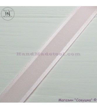 Silk ribbon with a satin edge 2 cm width colour 16-light pink