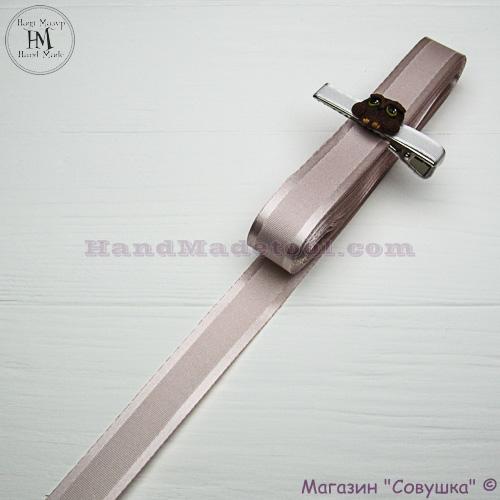Silk ribbon with a satin edge 2 cm width colour 17-powder
