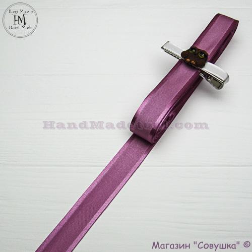 Silk ribbon with a satin edge 2 cm width colour 25-fuchsia