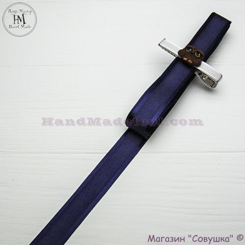 Silk ribbon with a satin edge 2 cm width colour 37-dark violet