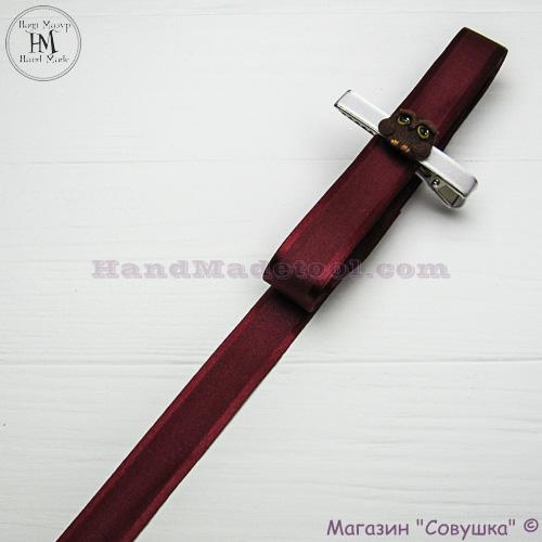 Silk ribbon with a satin edge 2 cm width colour 54-burgundy