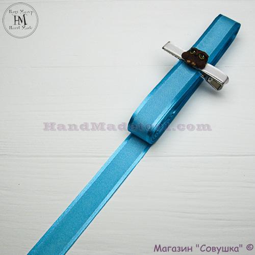 Silk ribbon with a satin edge 2 cm width colour 67-dark blue