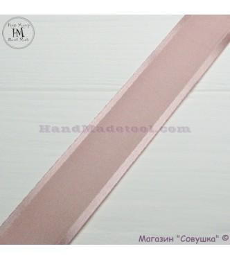 Silk ribbon with a satin edge 3 cm width colour 17-powder