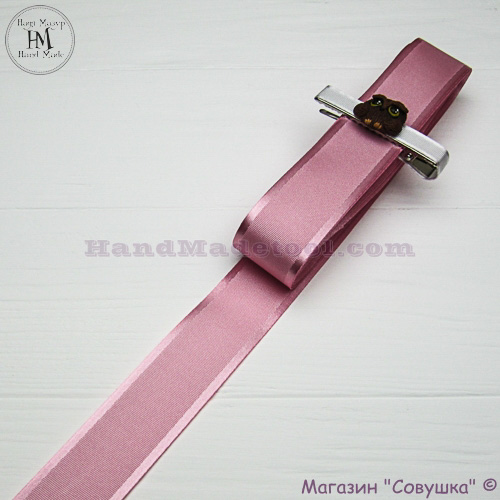 Silk ribbon with a satin edge 3 cm width, colour 19-pink.