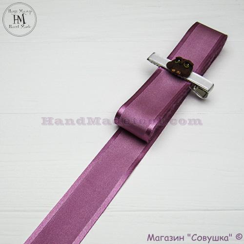 Silk ribbon with a satin edge 3 cm width, colour 25-fuchsia.