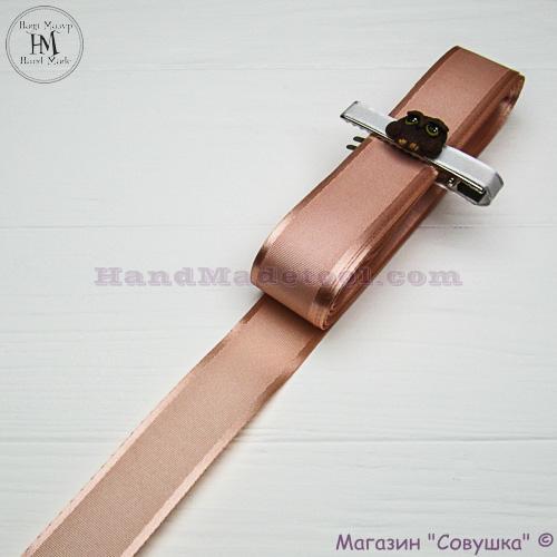 Silk ribbon with a satin edge 3 cm width, colour 28-peach.